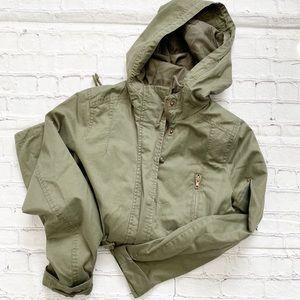 Ambiance Hunter Green Hooded Utility Jacket